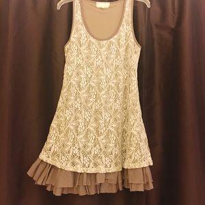 Anthropologie A'reve lace sleeveless dress. SZ SM.